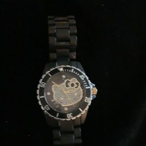 Hello Kitty Crystal black watch